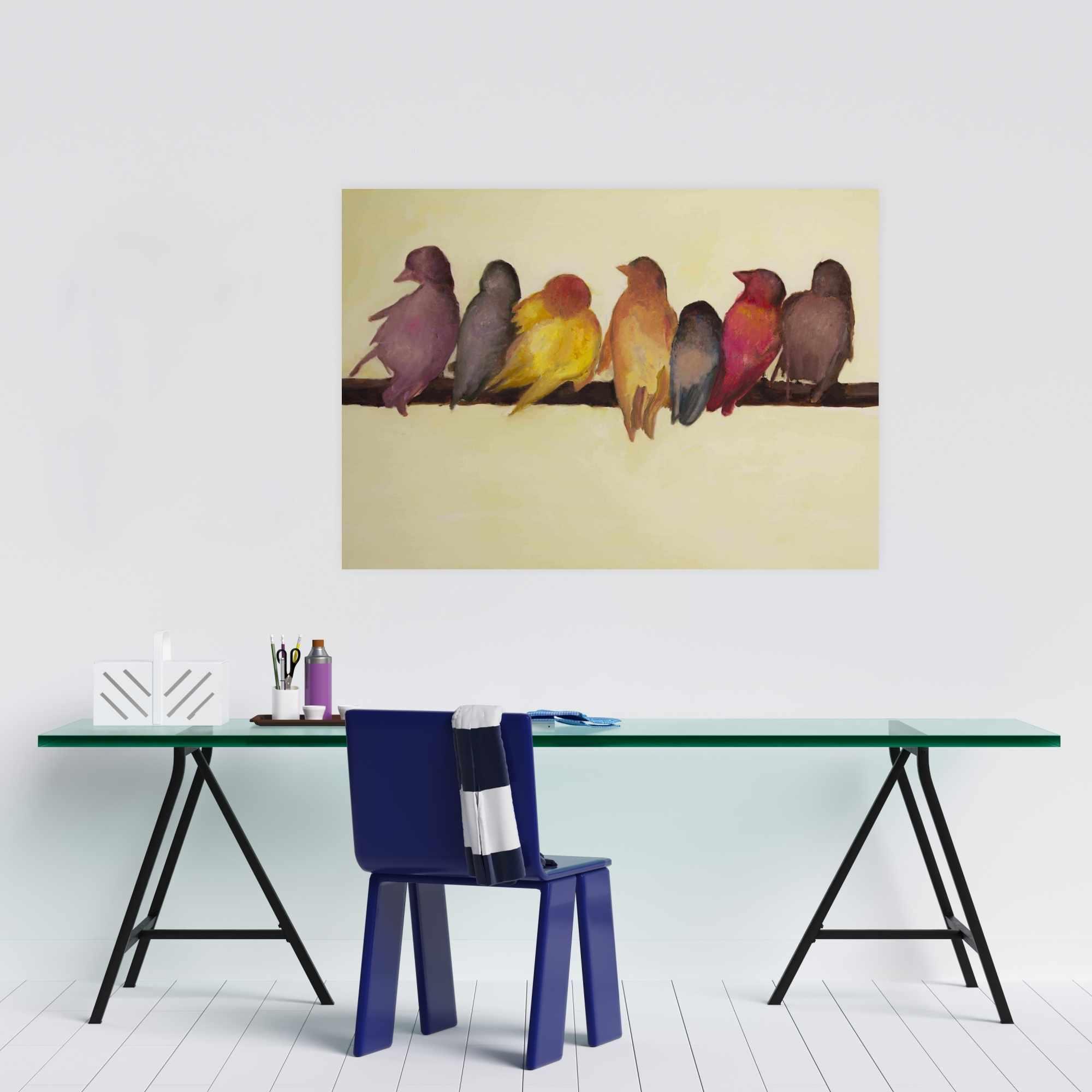 Affiche 24 x 36 - Famille d'oiseaux