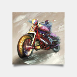 Poster 30 x 30 - Abstract motorcycle