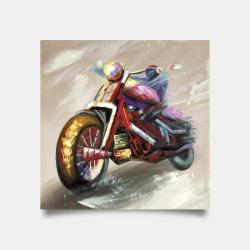 Affiche 30 x 30 - Moto abstraite