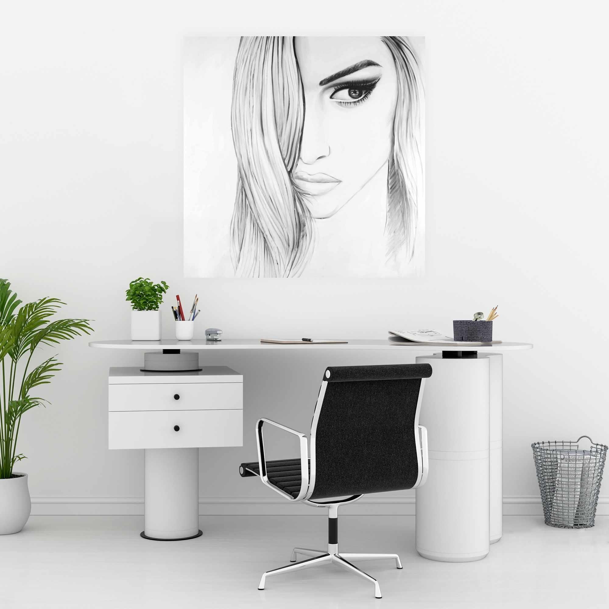Poster 30 x 30 - Black & white portrait