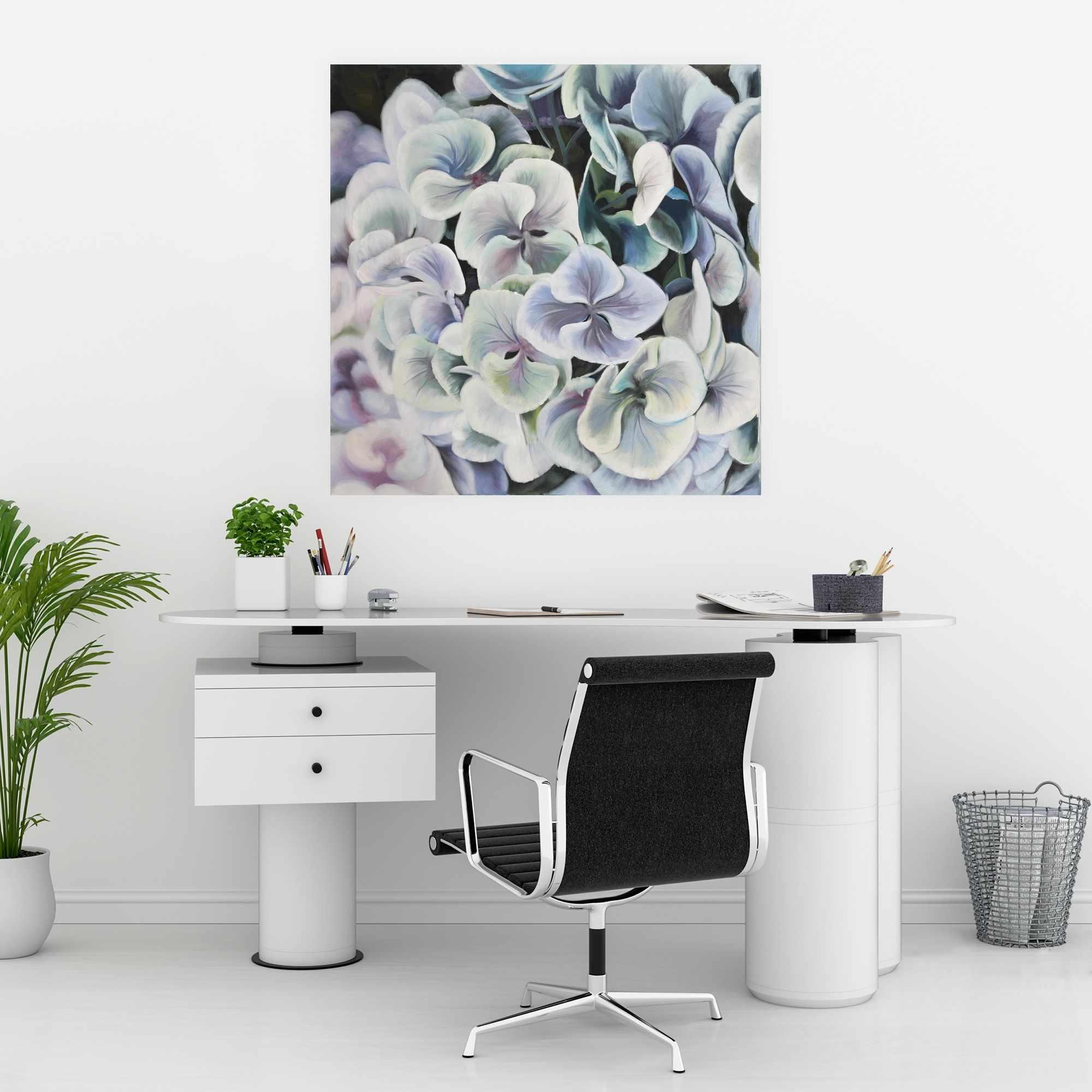 Poster 30 x 30 - Purple hydrangea flowers