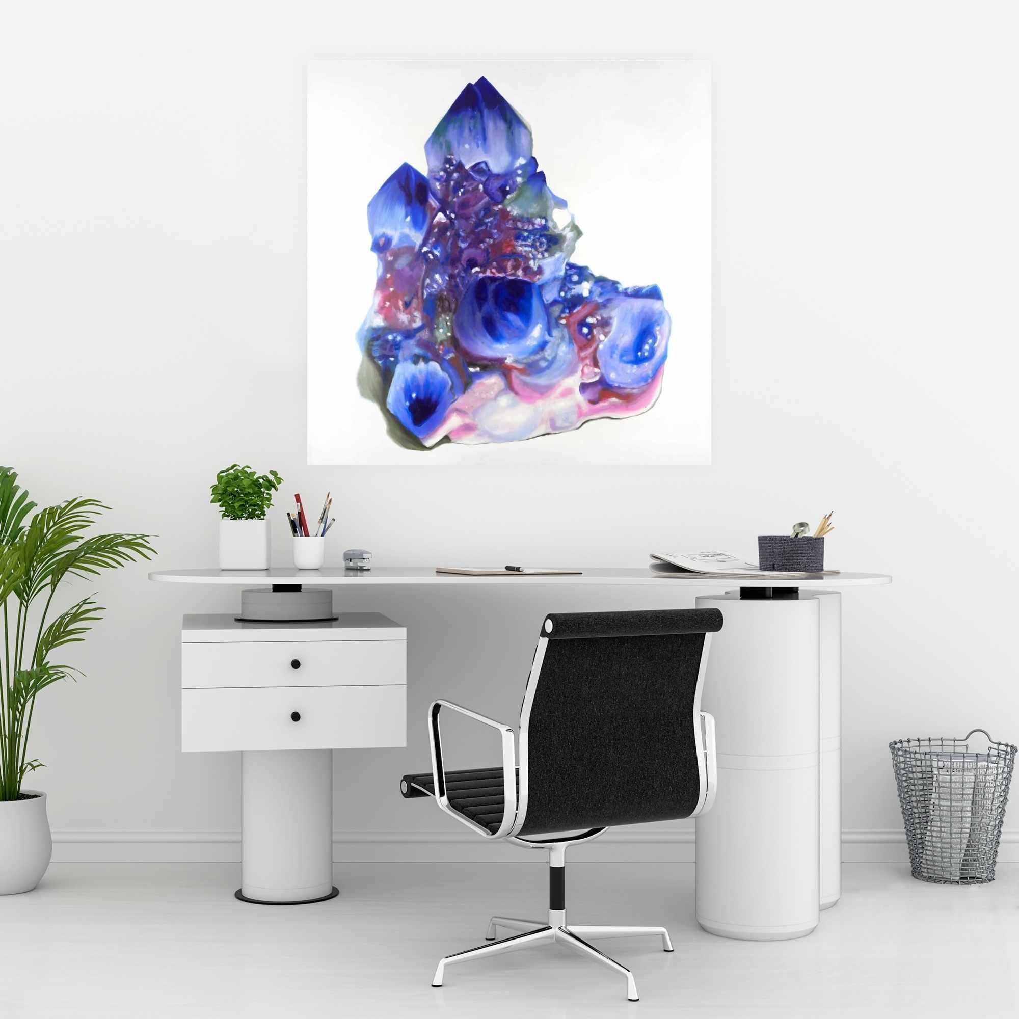 Poster 30 x 30 - Blue and purple quartz cristal