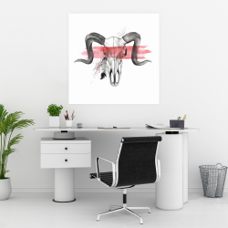 Poster 30 x 30 - Aerie skull with feather