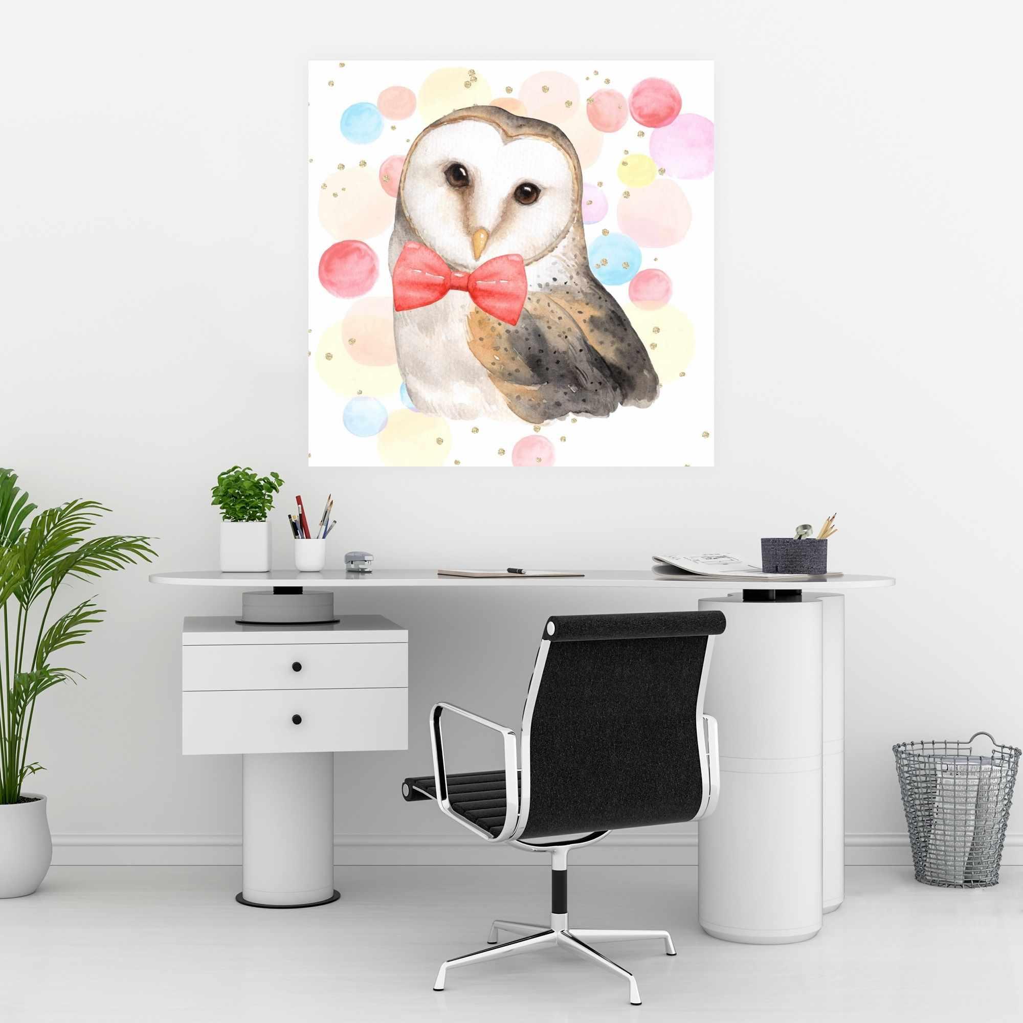 Affiche 30 x 30 - Chic hibou