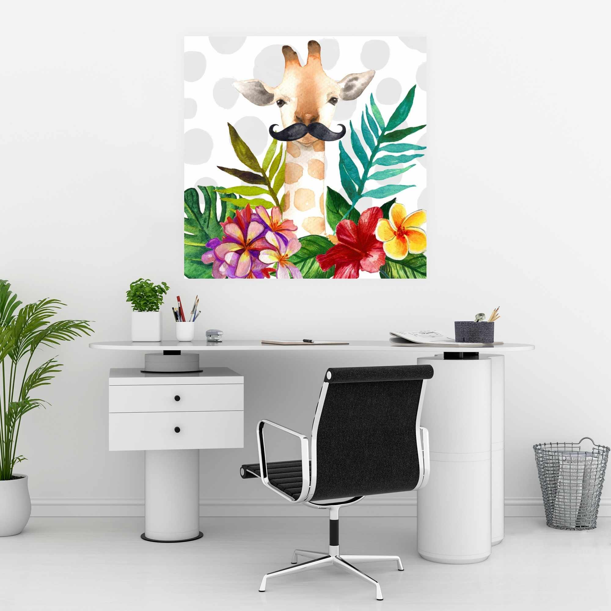 Poster 30 x 30 - Exotic giraffe