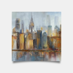 Poster 30 x 30 - Cityscape with chrysler building