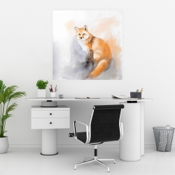Poster 30 x 30 - Watercolor fox