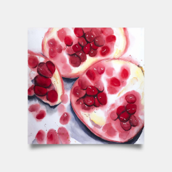 Poster 30 x 30 - Pomegranate pieces