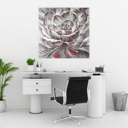 Affiche 30 x 30 - Fleur rouge et grise