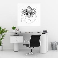 Affiche 30 x 30 - Ornement d'un lotus ethnique
