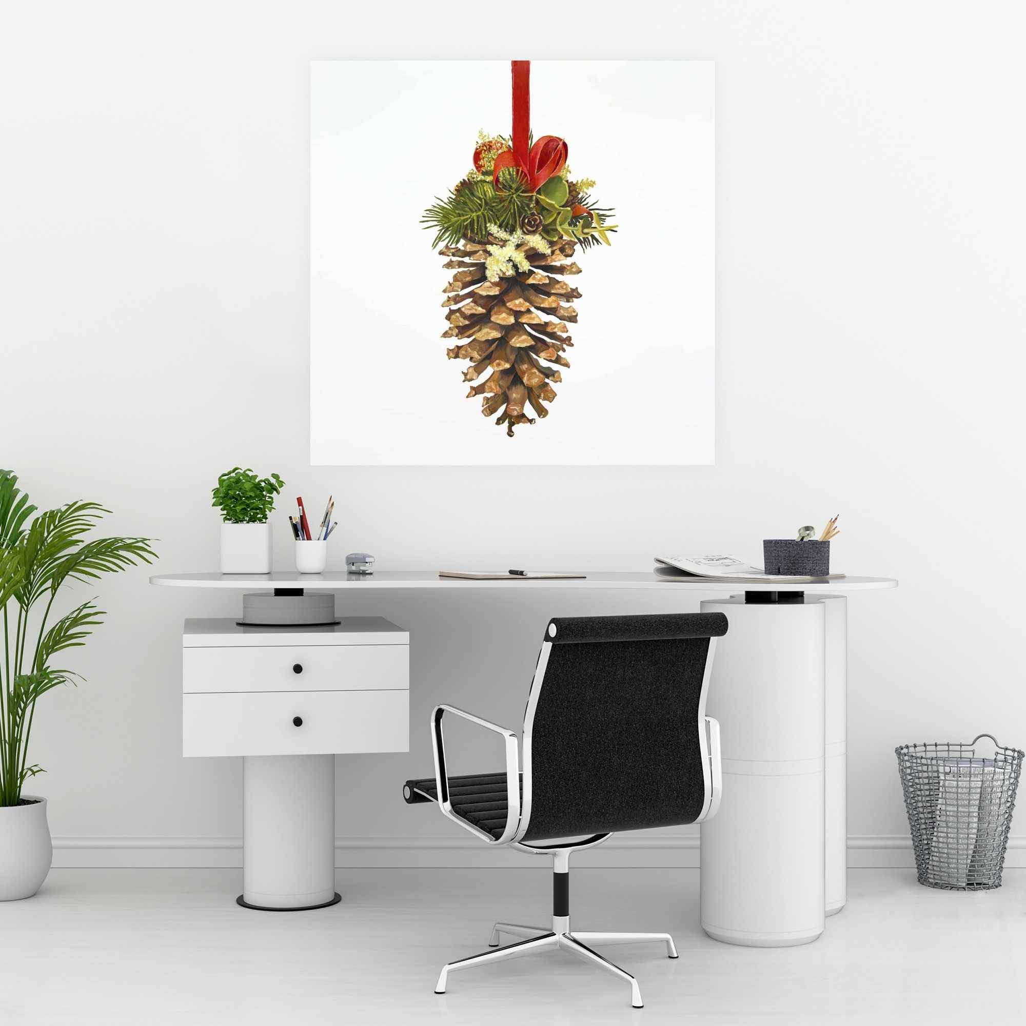 Poster 30 x 30 - Christmas pine cone