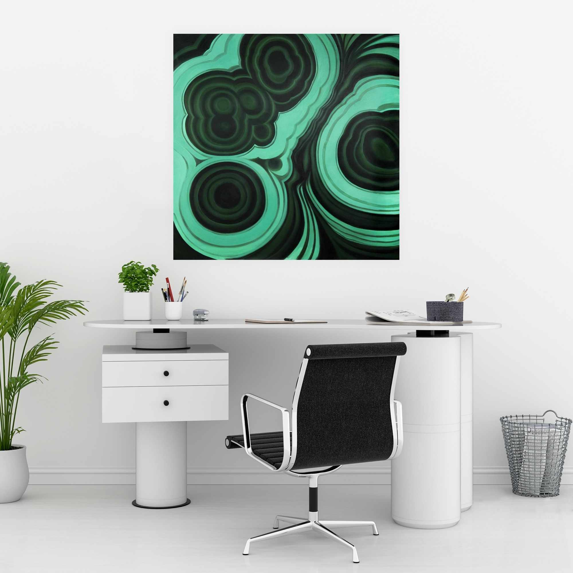 Poster 30 x 30 - Malachite stone
