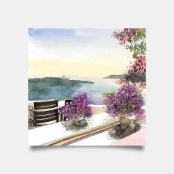 Poster 30 x 30 - Mediterranean sea view
