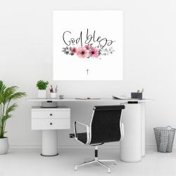 Poster 30 x 30 - God bless