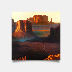 Poster 30 x 30 - Monument valley tribal park in arizona