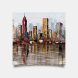 Poster 30 x 30 - Rust looking city