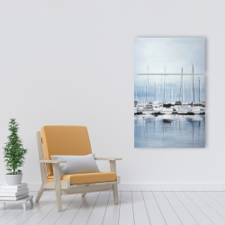 Canvas 24 x 36 - Boats at the dock 2