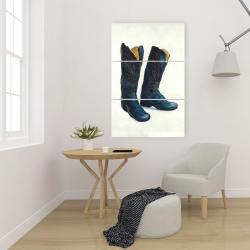 Canvas 24 x 36 - Leather cowboy boots