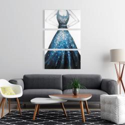 Canvas 24 x 36 - Blue princess dress