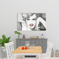Canvas 24 x 36 - Vintage style marilyn monroe