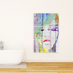 Canvas 24 x 36 - Abstract colorful portrait
