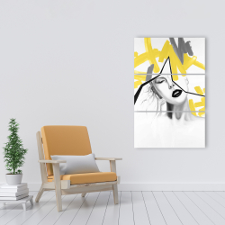Canvas 24 x 36 - Woman with yellow line