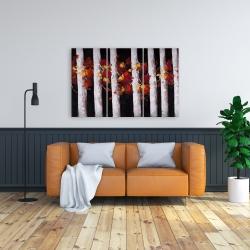 Toile 24 x 36 - Arbres et feuilles d'automne