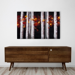 Canvas 24 x 36 - White trees with orange leaves