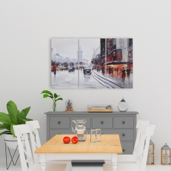 Canvas 24 x 36 - Street scene with cars