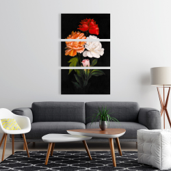 Canvas 24 x 36 - Three beautiful rose flowers