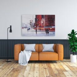 Canvas 24 x 36 - Black and red street scene