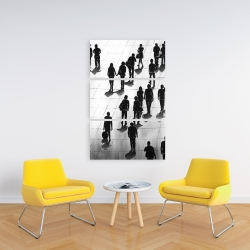 Canvas 24 x 36 - Silhouettes of people on the street
