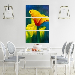 Canvas 24 x 36 - Beautiful colorful flowers