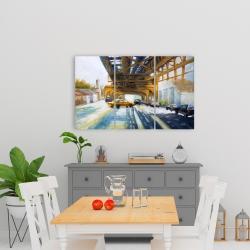 Canvas 24 x 36 - Cars under the bridge