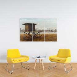 Canvas 24 x 36 - Newport beach lifeguard tower