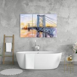 Canvas 24 x 36 - Abstract brooklyn bridge
