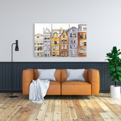 Canvas 24 x 36 - Amsterdam houses hotel