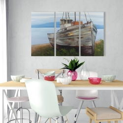 Canvas 24 x 36 - Old abandoned boat