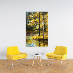 Canvas 24 x 36 - Fall landscape by the water