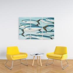 Canvas 24 x 36 - Small fish of caesio caerulaurea