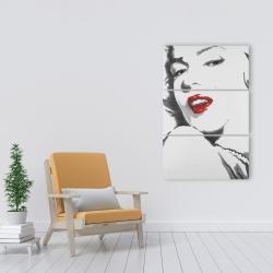Canvas 24 x 36 - Marilyn monroe outline style
