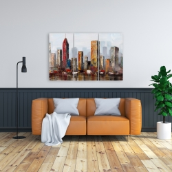 Canvas 24 x 36 - Rust looking city