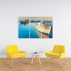 Canvas 24 x 36 - Fishing boats at the marina