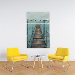 Canvas 24 x 36 - Old and dangerous bridge
