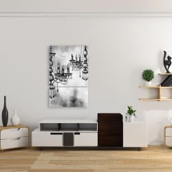 Canvas 24 x 36 - Two crystal chandeliers 1