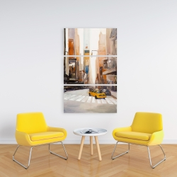 Canvas 24 x 36 - Calm street with taxi