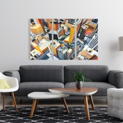 Canvas 24 x 36 - High top view of buildings in new york