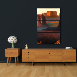 Canvas 24 x 36 - Monument valley tribal park in arizona