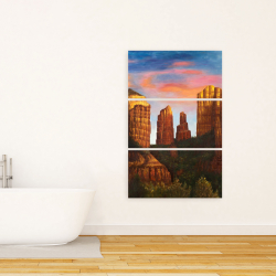 Canvas 24 x 36 - Cathedral rock in arizona