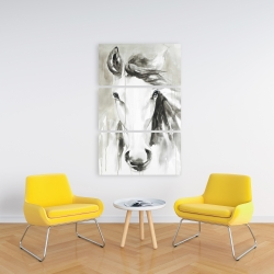 Canvas 24 x 36 - Beautiful abstract horse